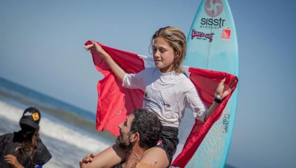 Peruana Catalina Zariquiey logró dos medallas de oro en el Sudamericano de Surf Infantil. (IPD)