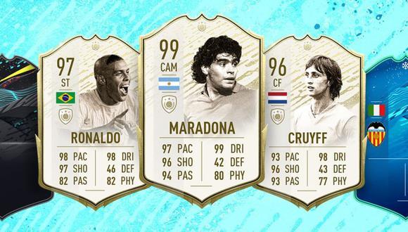 FIFA 20 potencia las cartas de Maradona, Ronaldo y Cruyff en Ultimate Team
