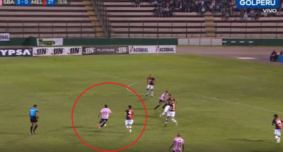 Manco hace de las suyas en el Sport Boys vs. Melgar. (Captura)