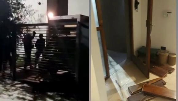 Un video viral muestra los estragos que ocasionó un allanamiento policial equivocado a la casa de un funcionario público creyendo que era la guardia de unos delincuentes.   Crédito: Telenueve / YouTube