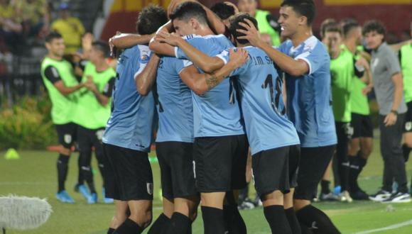 Uruguay derrotó 3-1 a Colombia por la tercera fecha del cuadrangular final del Preolímpico Sub 23.