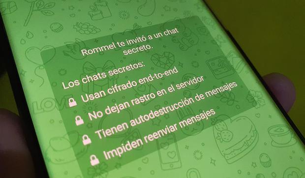 Esta es la activación de una conversación privada en Telegram.  (Foto: MAG)