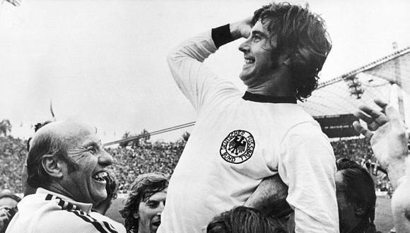 Müller, legendario delantero de la selección alemana de fútbol y del Bayern de Múnich en los años 1960 y 1970, murió este domingo a los 75 años. (Getty Images)