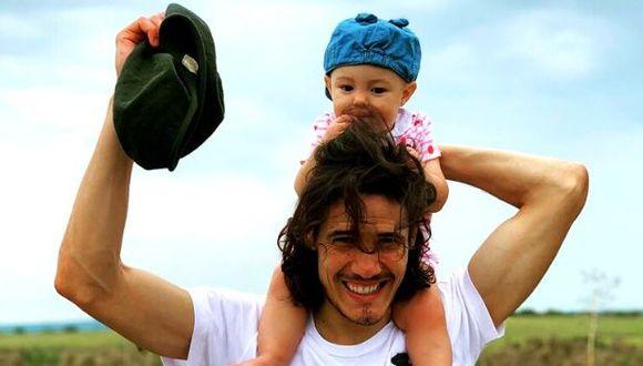 Edinson Cavani compartió momento  familiar con sus seguidores desde Salto. (Foto: Instagram)