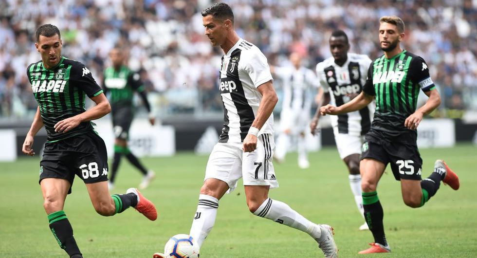 Juventus Vs Sassuolo Con Goles De Cristiano Ronaldo