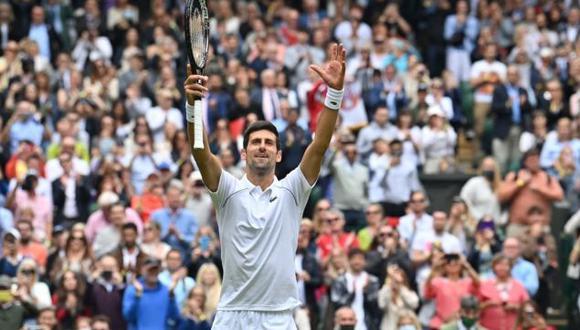 Novak Djokovic venció a Kevin Anderson y pasó a tercera ronda de Wimbledon 2021. (Twitter)