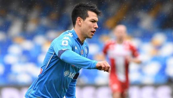 Hirving Lozano marcó su octavo gol en la Serie A 2020-21. (Foto: Napoli)