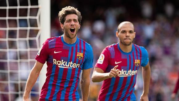 Sergi Roberto anotó el primer gol del Barcelona vs. Getafe por LaLiga (Foto: Getty Images).