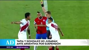 Renato Tapia y Christofer Gonzáles se perderán duelo con Argentina por acumulación de tarjetas