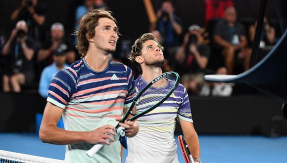 El duelo entre Thiem y Zverev será el octavo entre ambos jugadores con serie perfecta hasta ahora de 7-0 para el tenista austríaco, tercero en la clasificación mundial. (Foto: AFP)