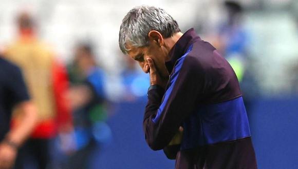 Setién llegó al Barça en enero del 2019 tras el cese de Ernesto Valverde. (Foto: AFP)