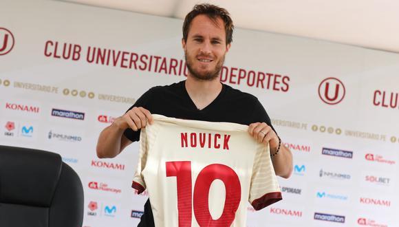 Hernán Novick usará la camiseta '10' en Universitario. (Foto: Prensa Universitario)