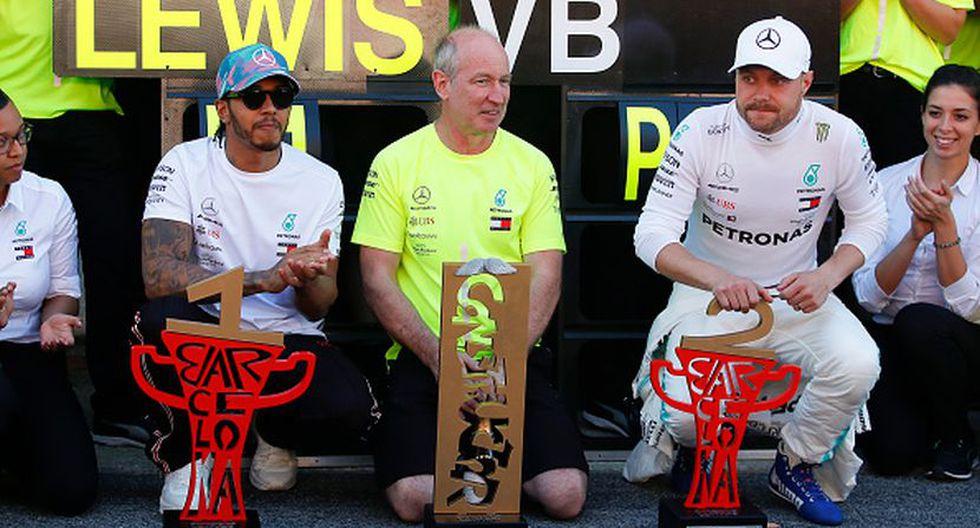 Lewis Hamilton y Valtteri Bottas, ambos de Mercedes, lideran esta temporada de F1. (Getty Images)