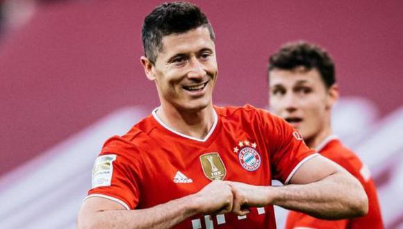 Robert Lewandowski superó el récord de Gerd Müller tras superar los 40 goles en la Bundesliga la temporada pasada. (Foto: Bundesliga)