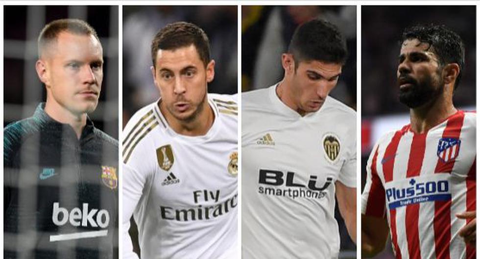 Los ausentes de Barcelona, Real Madrid, Atlético de Madrid y Valencia para la Supercpa de España 2019-20. (Foto: AFP)