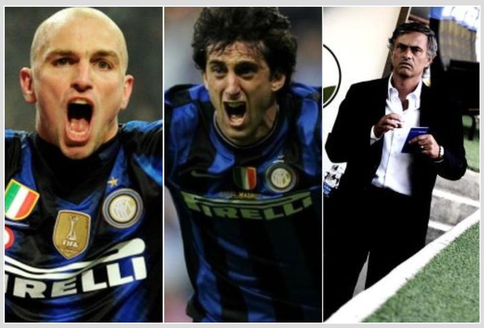 El último once del Inter de Milán que salió campeón en Italia. (Getty)