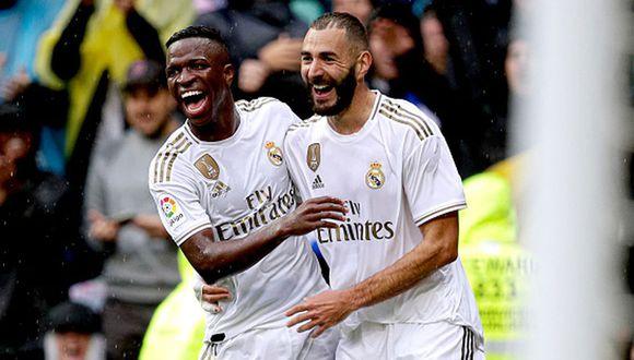 Vinicius y Benzema lograron formar una buena pareja la temporada pasada. (Getty)