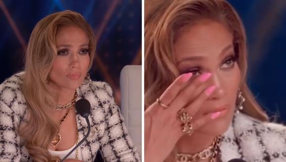 """Jennifer Lopez no aguantó la emoción y lloró en """"World of dance"""" tras la presentación de """"MDC3"""". (Captura de pantalla / YouTube)."""