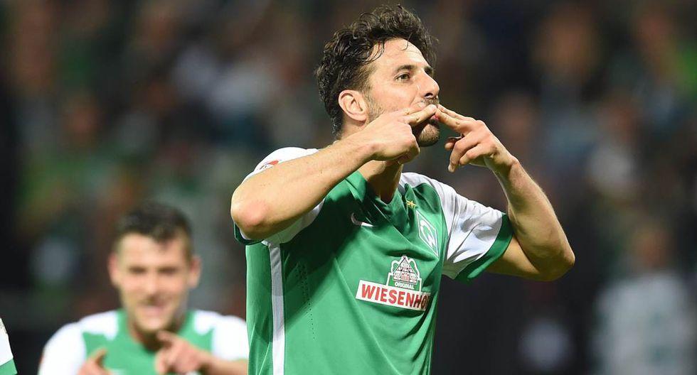 Claudio Pizarro usará tradicional número en el Werder Bremen. (Foto: EFE)