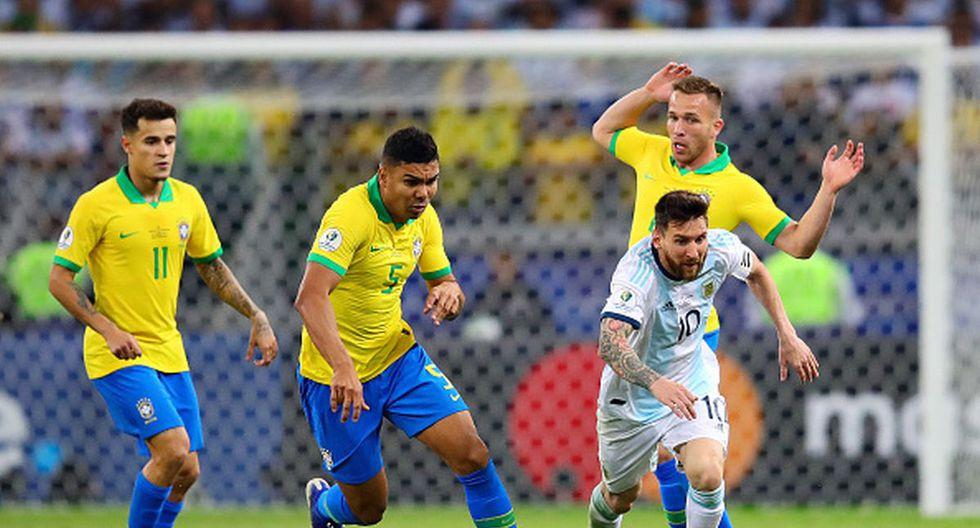 Lionel Messi jugó amistosos y partidos oficiales ante Brasil. (Getty)