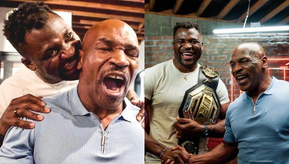 Un video viral muestra a Francis Ngannou, campeón camerunés de los Pesos Pesados de UFC, copiando una de las movidas más controvertidas de Mike Tyson a modo de broma después de asistir como invitado a su podcast. | Crédito: @francisngannou / Instagram