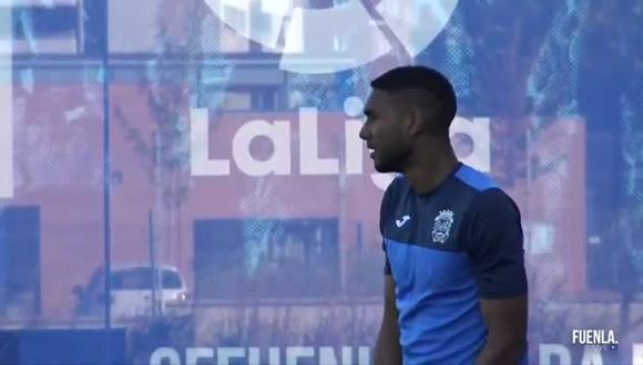 Aldair Fuentes sufrió una lesión en el hombro izquierdo en el duelo ante Albacete. (Foto: Twitter)