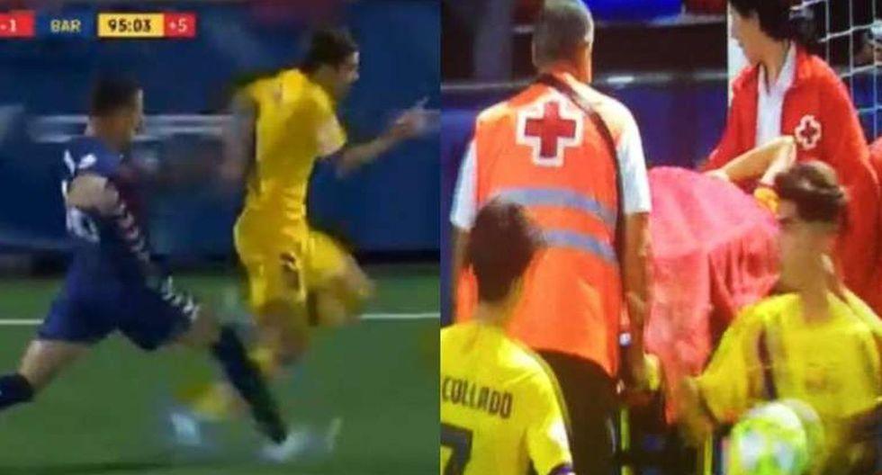 La criminal falta contra Riqui Puig en el Barza B que causa repudio en España. (Sport)