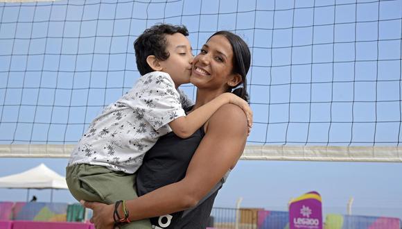 Cindy Calle, exponente de voley playa y madre orgullosa. (Foto: Legado)