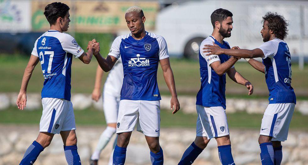 André Carrillo fue titular en el último partido amistoso del Al Hilal en Austria. (Foto: Twitter Al HIlal)