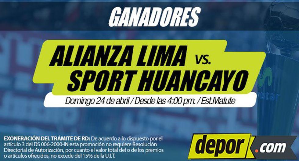Alianza Lima vs. Sport Huancayo: lista de ganadores de entradas dobles