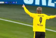 Pura calidad: Erling Haaland le hizo gol a Brujas e igualó marca de Cristiano Ronaldo en Champions [VIDEO]