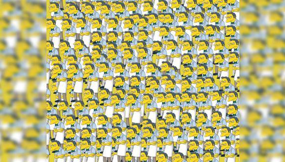 Intenta encontrar al Moe que está feliz en esta ilustración que es viral en redes sociales.  | Foto: Los Simpson