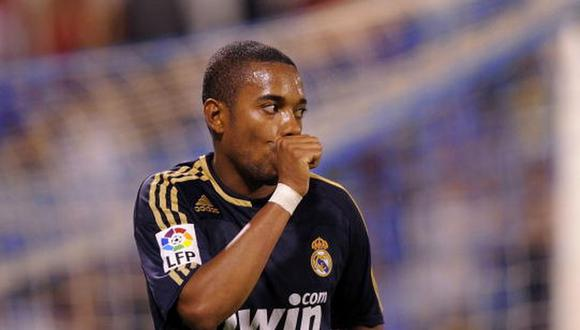 Robinho llegó al Real Madrid en la temporada 2005/06. (Getty)