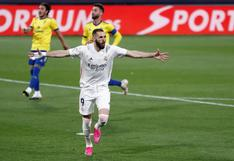 Karim Benzema está intratable: el récord que alcanzó en LaLiga tras marcarle al Cádiz