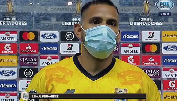 Raúl Fernández dio su balance, tras la derrota ante Liga de Quito. (Captura)