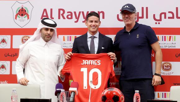 James Rodríguez se convirtió en jugador del Al Rayyan tras dejar Everton. (Foto: Al Rayyan)