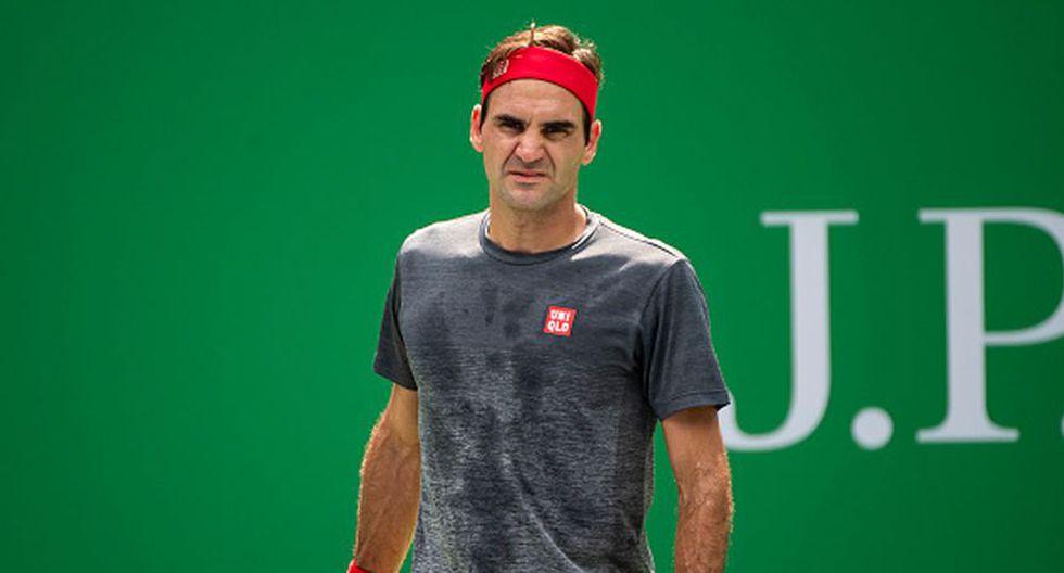 Roger Federer avanzó a cuartos de final del Masters de Shanghái 2019. (Getty Images)