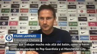 Frank Lampard evalúa el desempeño del Chelsea frente al equipo de Pep Guardiola