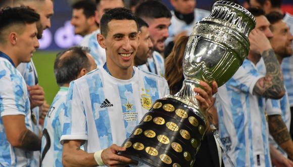 Di María tuvo su primera convocatoria a la selección argentina el año 2008. (Foto: AFP)