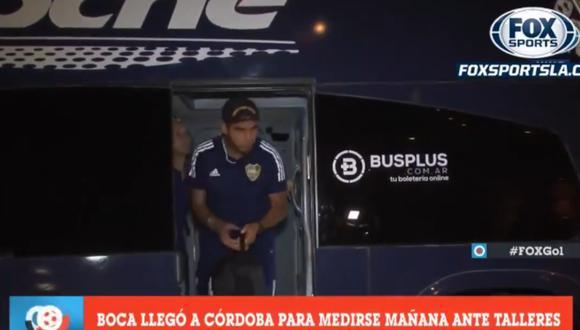 Carlos Zambrano arribó a la ciudad de Córdoba con Boca Juniors. (Captura: FOX Sports)