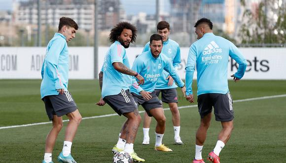 Los 'blancos' preparan el duelo ante Liverpool en Anfield por Champions. (Foto: Real Madrid)