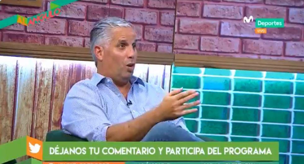 Diego Rebagliati analizó el momento complicado de Sporting Cristal. (Captura Movistar Deportes)