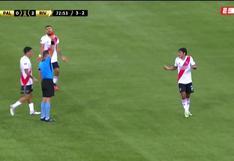 Lo sufre Gallardo: Robert Rojas vio la tarjeta roja y dejó a River Plate con diez en Brasil [VIDEO]