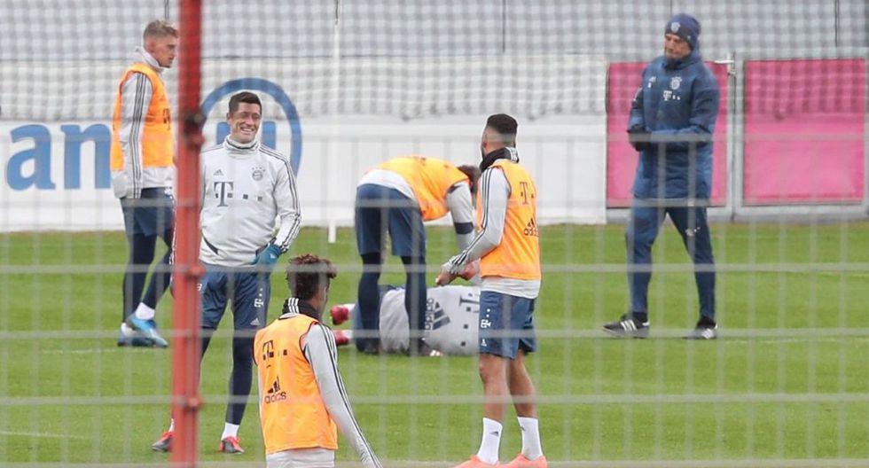 El momento de tensión que se vivió en el entrenamiento del Bayern Munich. (Bild)