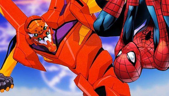Spider-Man y el Eva 02 (YouTube)