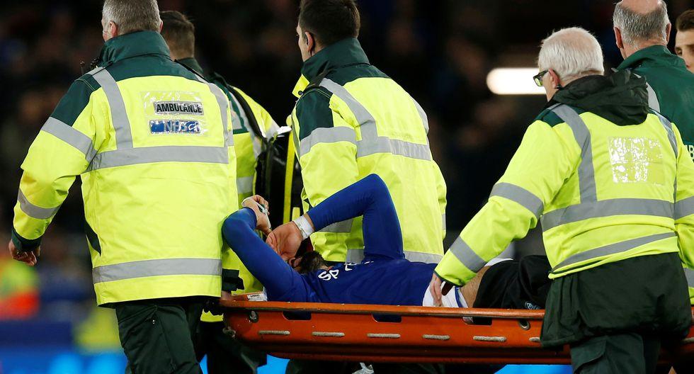 La terrible lesión de André Gomes en el Tottenham vs. Everton. (Reuters)