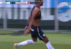 Desató la locura: el espectacular gol de Léo Chú para el 1-0 de Gremio ante Inter de Paolo Guerrero [VIDEO]