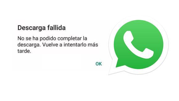 Conoce por qué te aparece descarga fallida en WhatsApp y cómo solucionarlo. (Foto: Depor)