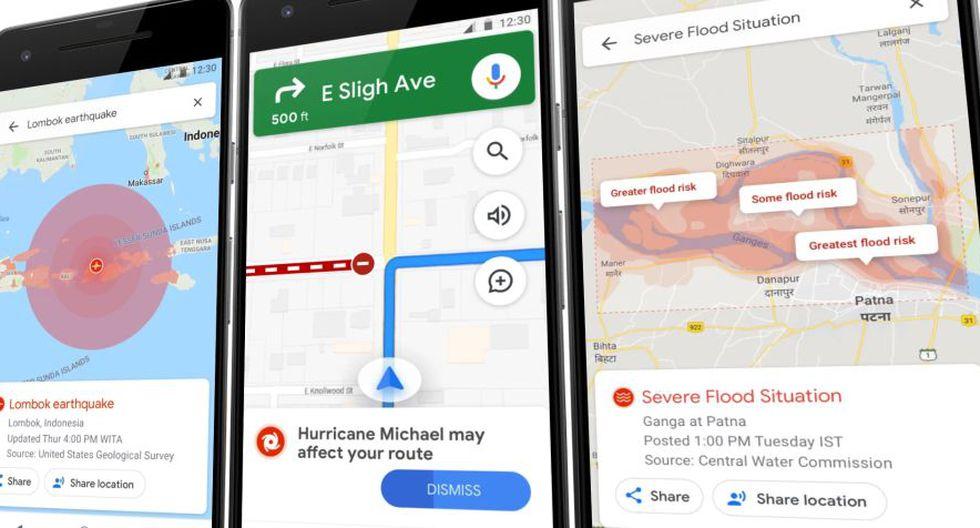 Advertencias de Google Maps en caso de desastres (VentureBeat)