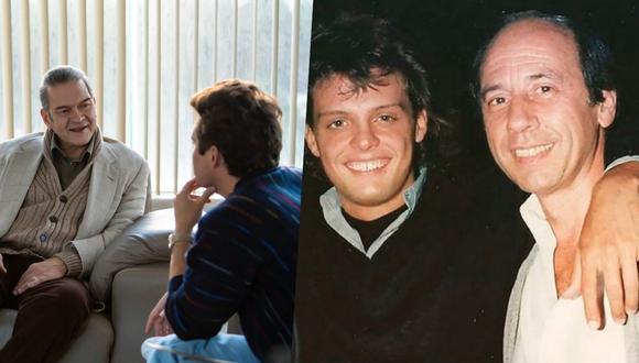 César Bordon (Hugo López) junto a Diego Boneta (Luis Miguel) en iuna escena de la serie (Foto: Netflix).